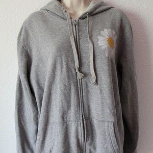 Life is Good Extra Large Grey Full-zip Sweatshirt